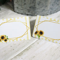 Sunflowers Garden Floral Bridal Shower Table Decorations