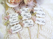 Rustic Vintage Wedding Cupcake Toppers