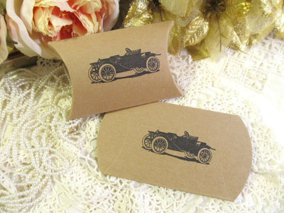 Antique Roadster Car Small Favor Candy boxes - Qty 20  - 1920's vintage rustic