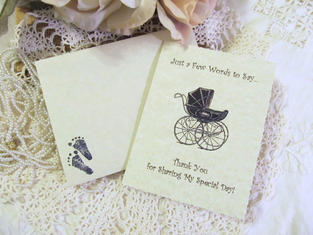 Baby Shower Vintage Style Thank You Cards