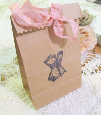 Lingerie Shower Corset Party Favor Gift Bags