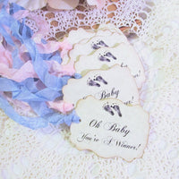 Baby Shower Game Prize Tags Oh Baby You're a Winner - Set of 9