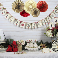 Poinsettia Winter Wedding Decorations