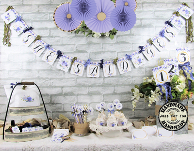 Lavender Purple Wedding Bridal or Baby Shower Decorations