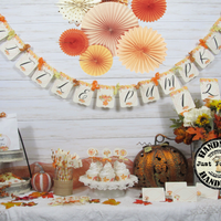 Leaves Pumpkins Fall Baby Shower Decorations