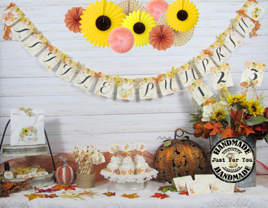 Sunflowers Pumpkins Floral Baby Shower Decorations Little Pumpkin