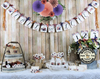 Fall Bridal Shower Wedding Decorations Plum Coral Rust