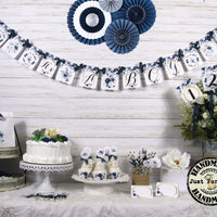 Classic Blue Baby Shower Decorations