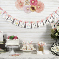 Pink Gold Baby Girl Shower Decorations