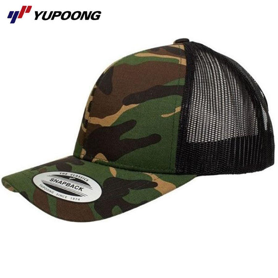 Image of Yupoong Headwear, Style Code - 6606T-CAMO. Contact Natural Art for Screen Printing on this Product