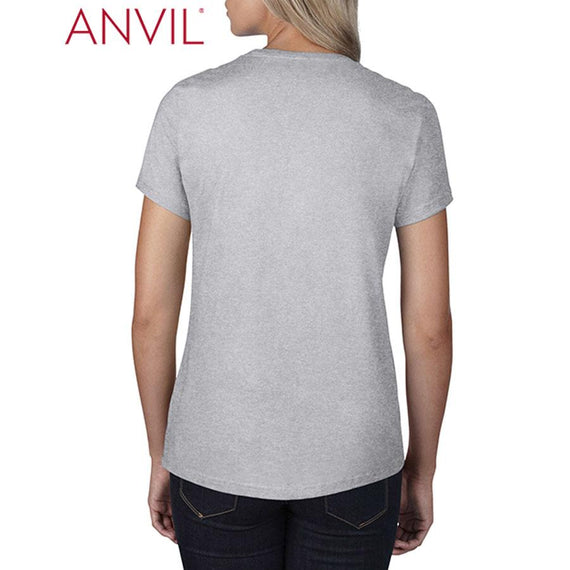 Anvil 790L Women's Black Tee