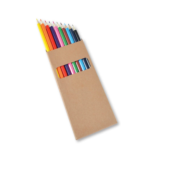 Coloured Full Length Colouring Pencils PK10