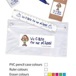 Stationery Set in PVC Pencil Case