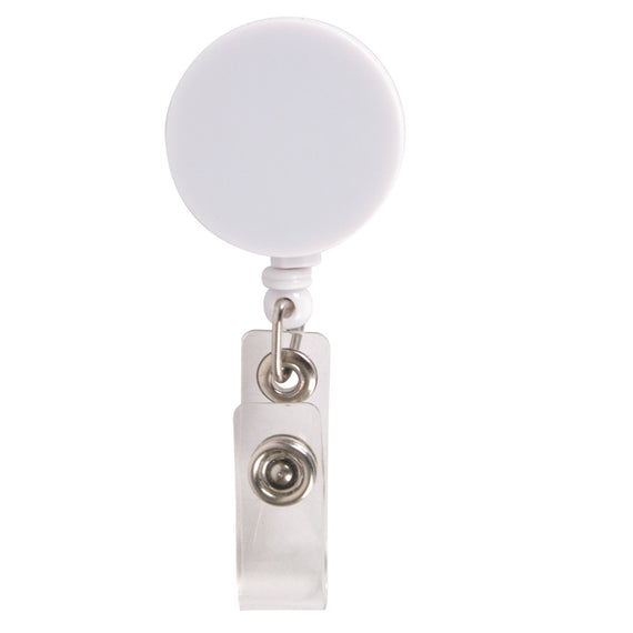 Retractable Name Badge Holder with Metal Clip