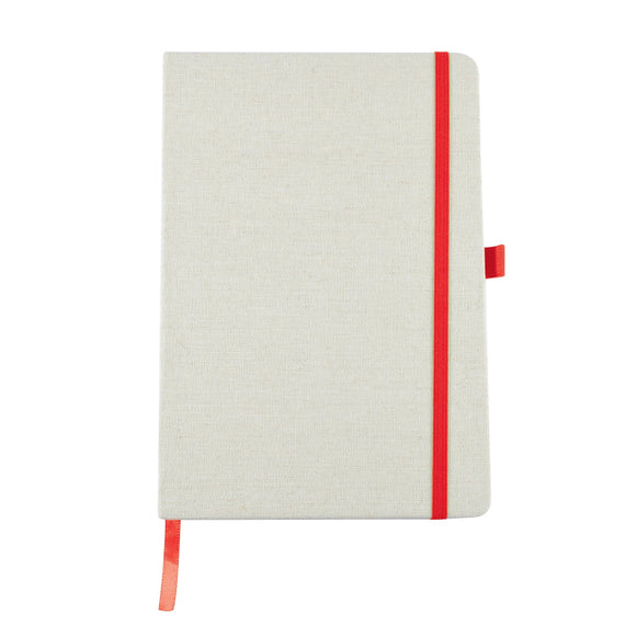 Civic A5 Linen Notebook with Elastic Closure