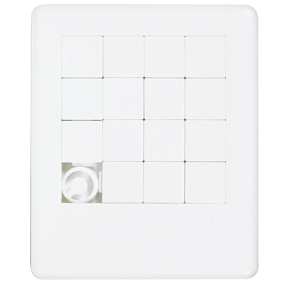 White Sliding Tile Puzzle