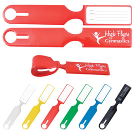 Shiny PVC Self Locking Luggage Tag
