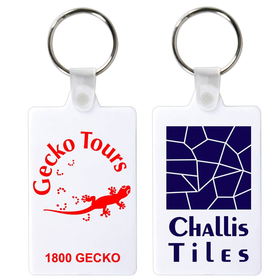 Rectangular Flexible PVC Keytag