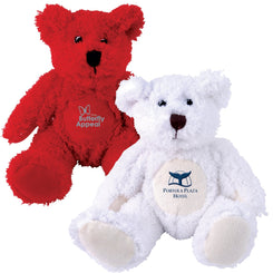Zoe (Red) and Snowy (White) Plush Teddy Bear