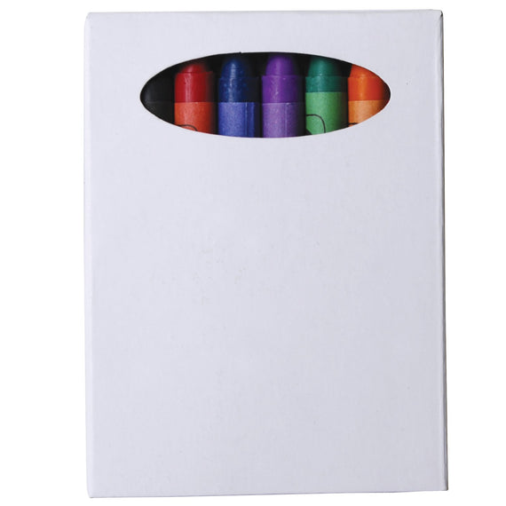 Assorted Colour Crayons in Custom Design Cardboard Box