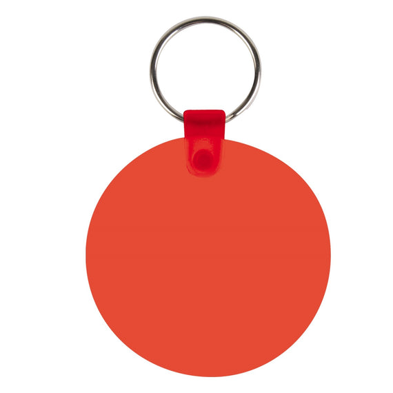 Round Flexible PVC Keytags