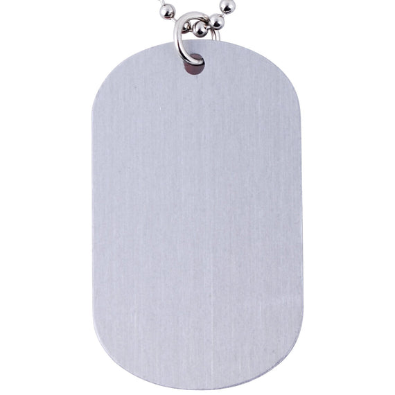 Epoxy Domed Dog Tag Keychain