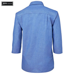 JB's Wear 4LICT JB's Ladies Original 3/4 Indigo Chambray Shirt