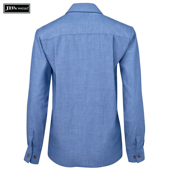 JB's Wear 4LIC JB's Ladies Original L/S Indigo Chambray Shirt