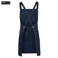 JB's Wear 5ACBD Cross Back Denim Apron (Without Straps)