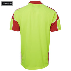 JB's Wear 6AP4S Hi Vis S/S Arm Panel Polo