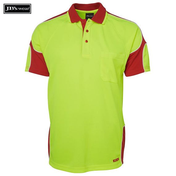Image of JB's Wear Hi-Vis Polos, Style Code - 6AP4S. Contact Natural Art for Screen Printing on this Product