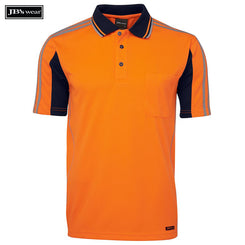 Image of JB's Wear Hi-Vis Polos, Style Code - 6AT4S. Contact Natural Art for Screen Printing on this Product