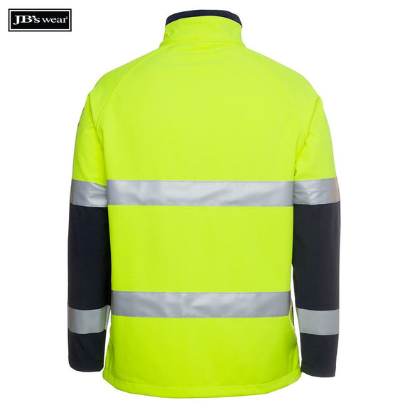 JB's Wear 6D4LJ Hi Vis (D+N) Softshell Jacket