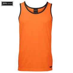 Image of JB's Wear Hi-Vis Singlets, Style Code - 6HCS4. Contact Natural Art for Screen Printing on this Product