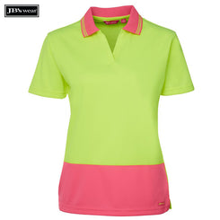 Image of JB's Wear Hi-Vis Polos, Style Code - 6HNB1. Contact Natural Art for Screen Printing on this Product