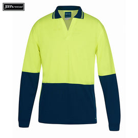 Image of JB's Wear Hi-Vis Polos, Style Code - 6HNBL. Contact Natural Art for Screen Printing on this Product