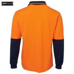 JB's Wear 6HPL Hi Vis L/S Cotton Back Polo