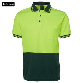 Image of JB's Wear Hi-Vis Polos, Style Code - 6HPS. Contact Natural Art for Screen Printing on this Product