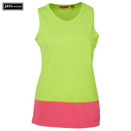 Image of JB's Wear Hi-Vis Singlets, Style Code - 6HTS1. Contact Natural Art for Screen Printing on this Product
