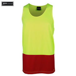 Image of JB's Wear Hi-Vis Singlets, Style Code - 6HTS. Contact Natural Art for Screen Printing on this Product