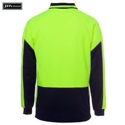 JB's Wear 6HVGL Hi Vis L/S Gap Polo