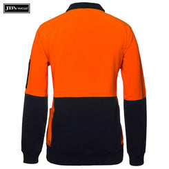 JB's Wear 6HVPZ Hi Vis 330G 1/2 Zip Fleece