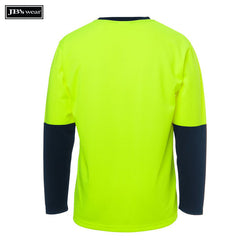 JB's Wear 6HVTL JB's Hi Vis Long Sleeve Traditional T-Shirt