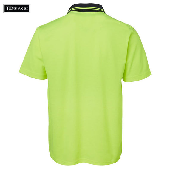 JB's Wear 6NCCS Hi Vis Non Cuff S/S Cotton Back