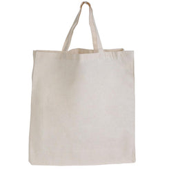 Logo-Line LL503 Supa Shopper Short Handle Calico Bag - 130 GSM
