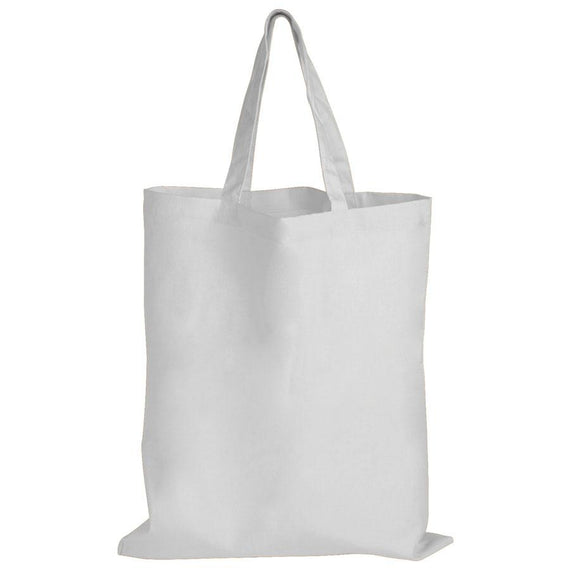 Logo-Line LL509 Coloured Cotton Double Short Handle Tote Bag - 140 GSM