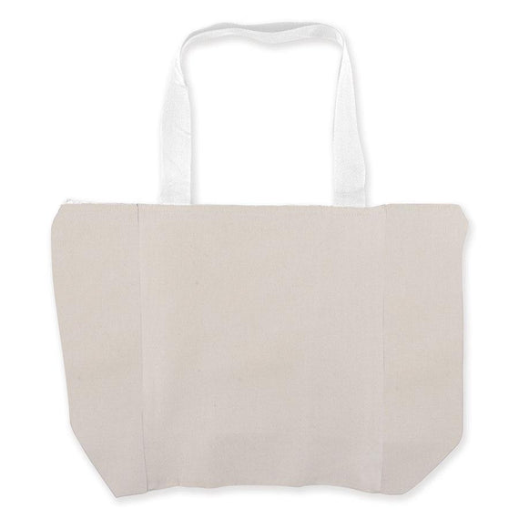 Logo-Line LL525 Carry All Calico Zip Bag - 305 GSM