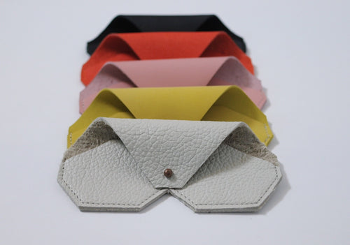 Geometric Leather Eyewear Holder