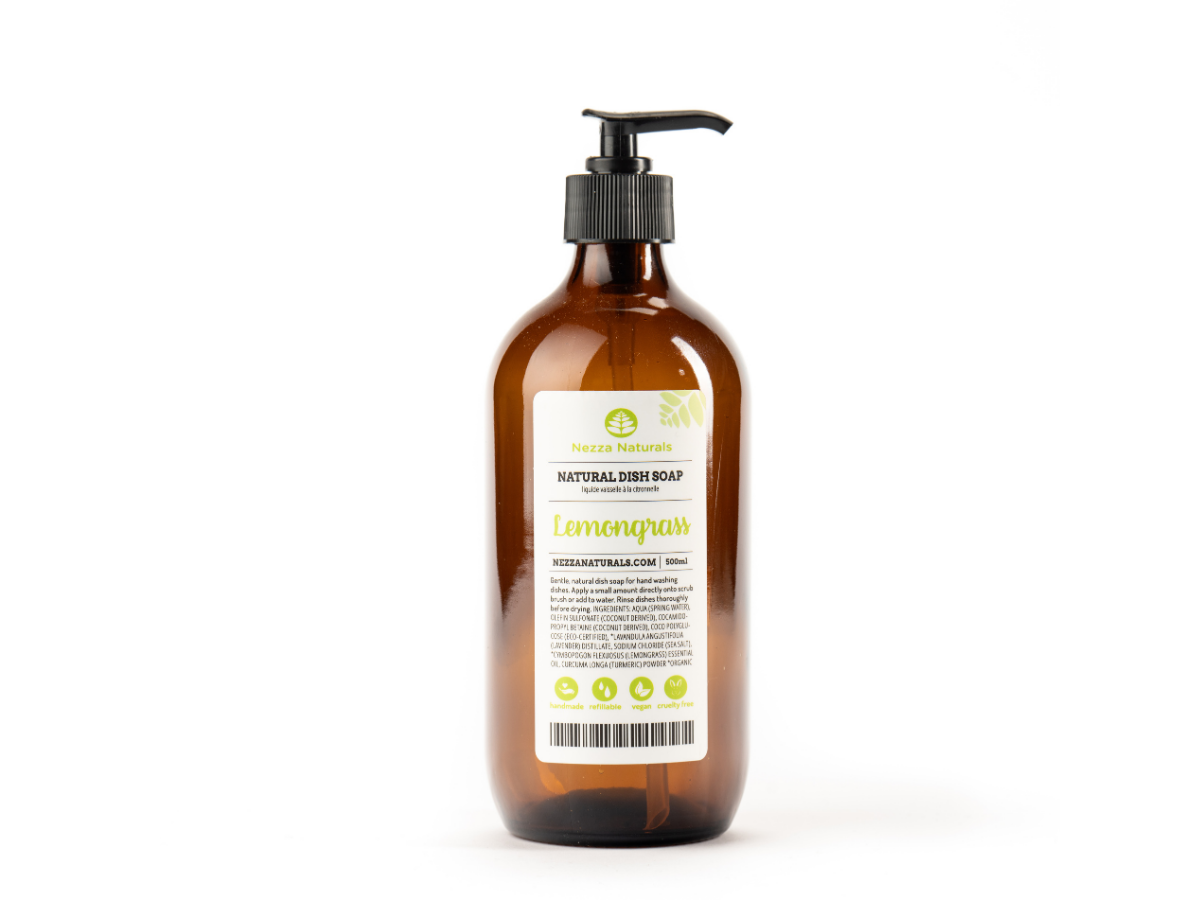 Lemongrass Natural Dish Soap