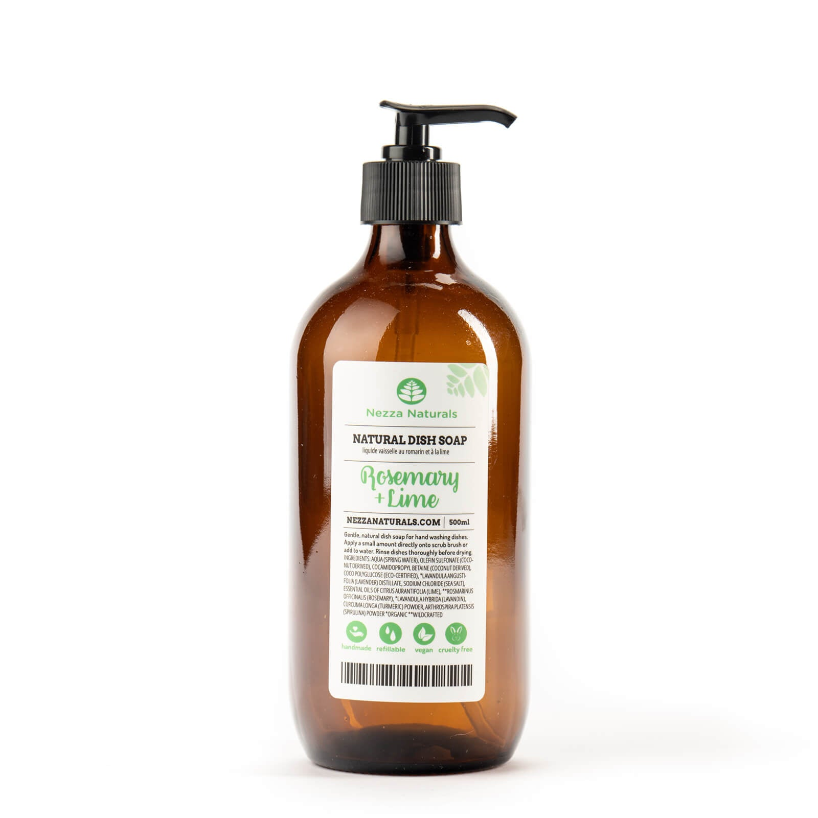 Rosemary & Lime Natural Dish Soap
